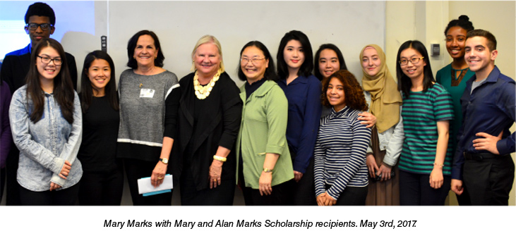 Mary with Recipients May 3, 2017